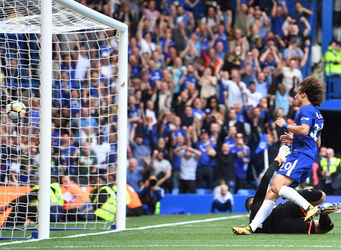Chelsea's David Luiz scored one of the two goals in the shock 2-3 loss to Burnley last week