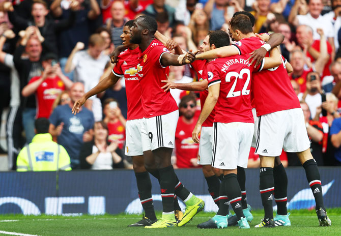 Rediff Sports - Cricket, Indian hockey, Tennis, Football, Chess, Golf - EPL PHOTOS: Manchester United crush West Ham 4-0; Alli shines for Spurs