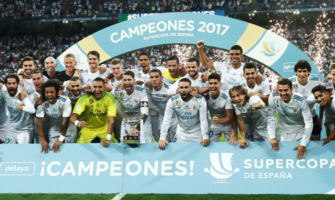 Rediff Sports - Cricket, Indian hockey, Tennis, Football, Chess, Golf - PHOTOS: How Madrid crushed Barcelona to win Super Cup
