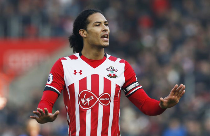 Rediff Sports - Cricket, Indian hockey, Tennis, Football, Chess, Golf - Van Dijk's hopes of moving out of Southampton dashed