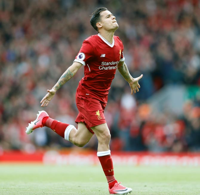 Rediff Sports - Cricket, Indian hockey, Tennis, Football, Chess, Golf - Liverpool reject third Barcelona bid for Coutinho