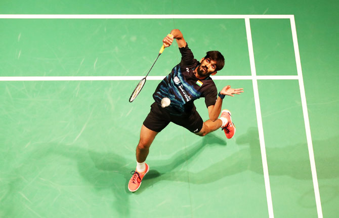 Rediff Sports - Cricket, Indian hockey, Tennis, Football, Chess, Golf - Badminton Worlds: Srikanth, Sameer advance to second round