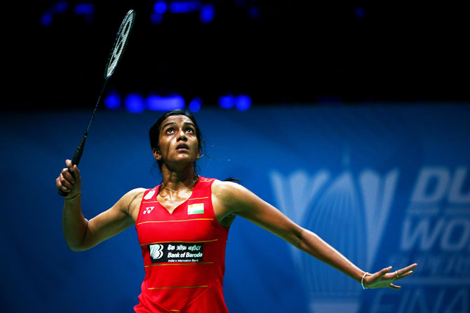 Rediff Sports - Cricket, Indian hockey, Tennis, Football, Chess, Golf - World C'ships: Sindhu assures India a medal; Srikanth knocked out