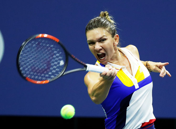 Simona Halep was stunned by Maria Sharapova in the first round