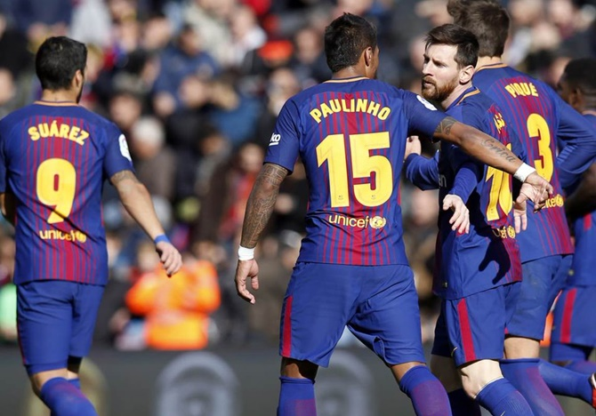 Rediff Sports - Cricket, Indian hockey, Tennis, Football, Chess, Golf - Barcelona drop points despite Messi ending goal drought
