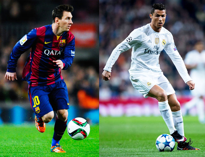 Rediff Sports - Cricket, Indian hockey, Tennis, Football, Chess, Golf - Ballon d'Or: It's 5-all. So who is better, Ronaldo or Messi?
