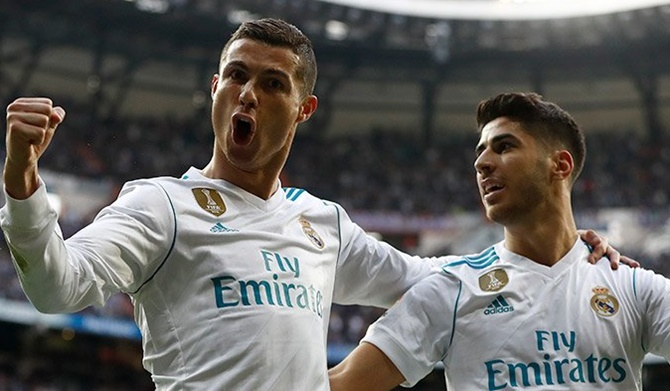 Rediff Sports - Cricket, Indian hockey, Tennis, Football, Chess, Golf - Ronaldo steals the show as Real blow away Sevilla