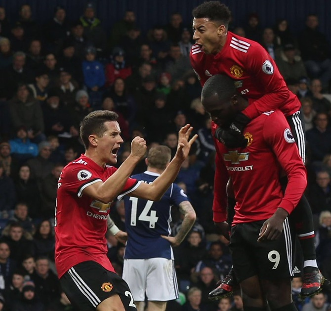 EPL: United edge past West Brom; Liverpool hammer Bournemouth