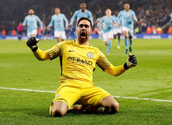 PHOTOS: Bravo for City in shootout win, Arsenal also into semis