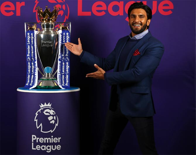 Bollywood star Ranveer to promote English Premier League in India