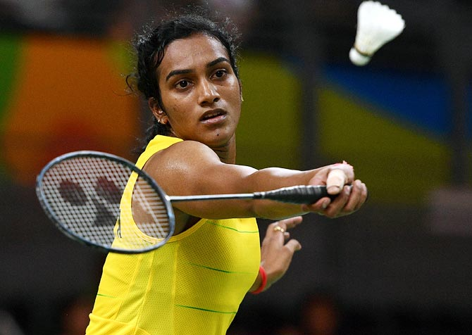 Rediff Sports - Cricket, Indian hockey, Tennis, Football, Chess, Golf - All England: Sindhu, Prannoy enter quarters; Srikanth bows out