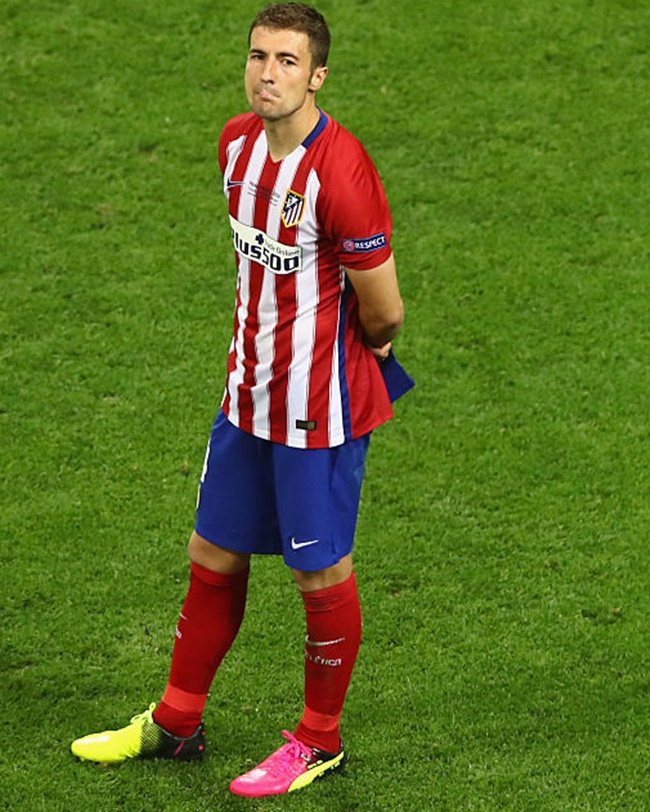 Lucas Hernandez in Atletico Madrid colours. Photograph: Dean Mouhtaropoulos/Getty Images