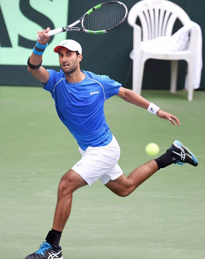 Rediff Sports - Cricket, Indian hockey, Tennis, Football, Chess, Golf - Davis Cup: Bhambri, Ramkumar give India a flying start