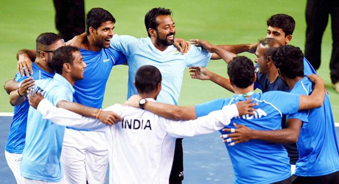 Rediff Sports - Cricket, Indian hockey, Tennis, Football, Chess, Golf - 'Was hoping for three singles wins, got four': Proud captain, Amritraj