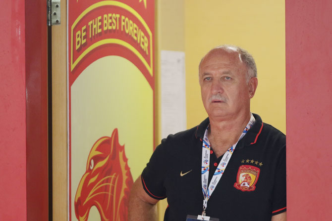 Luiz Felipe Scolari is coach of Guangzhou Evergrande