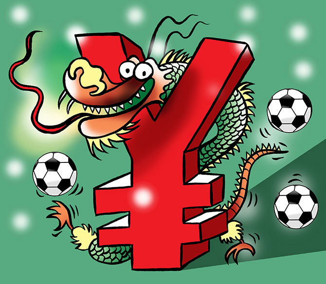 Rediff Sports - Cricket, Indian hockey, Tennis, Football, Chess, Golf - China's big bucks luring soccer's talent