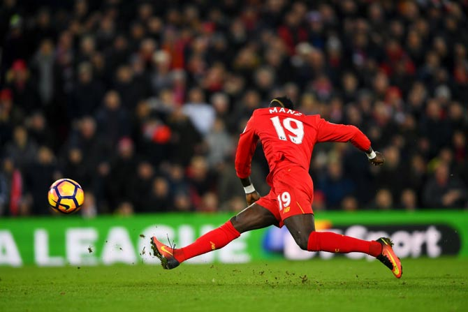 Rediff Sports - Cricket, Indian hockey, Tennis, Football, Chess, Golf - EPL: Mane double puts Liverpool back on track