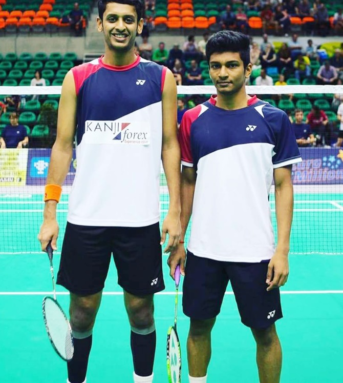 Rediff Sports - Cricket, Indian hockey, Tennis, Football, Chess, Golf - Arjun-Shlok win men's doubles title in Iran