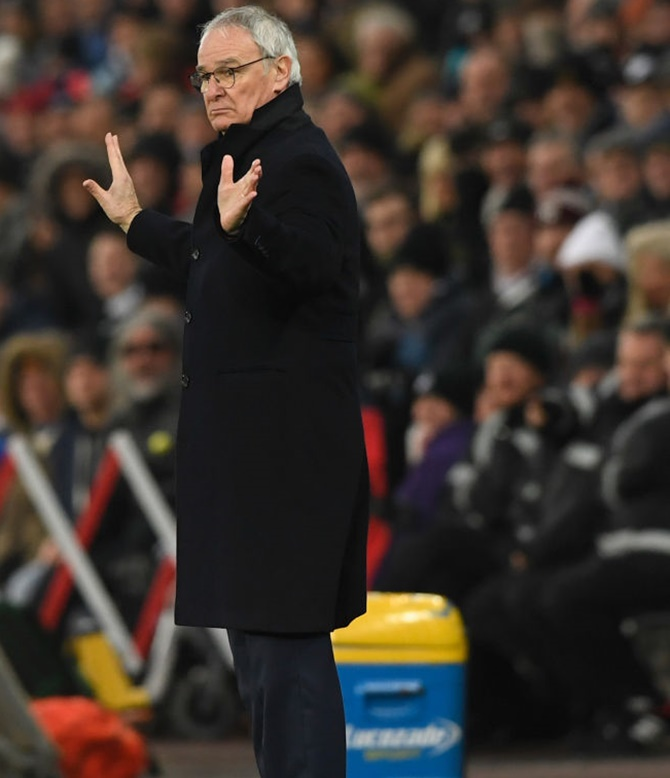 Rediff Sports - Cricket, Indian hockey, Tennis, Football, Chess, Golf - Angry Ranieri hints at dropping Leicester underperformers