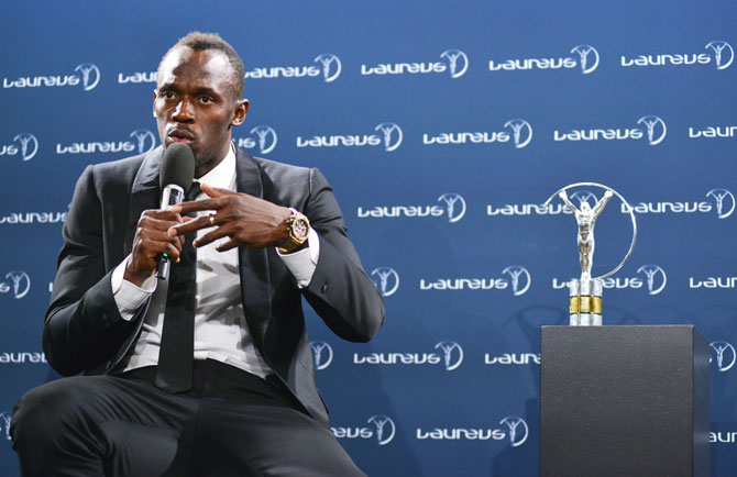 Rediff Sports - Cricket, Indian hockey, Tennis, Football, Chess, Golf - I have no reason to stay in athletics, says Bolt