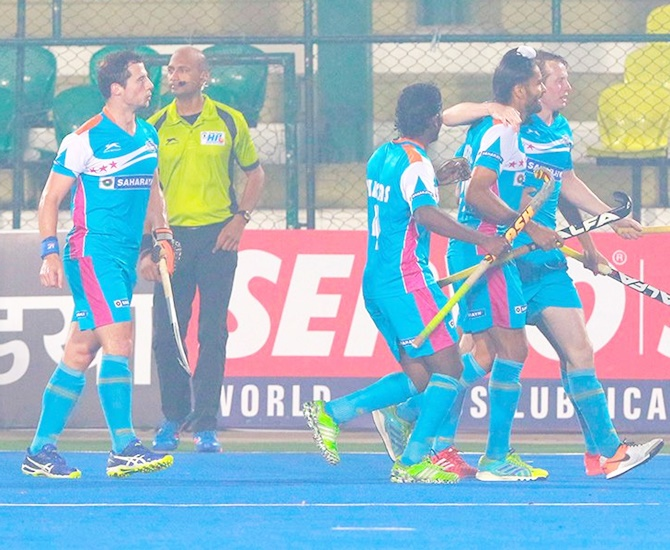 Rediff Sports - Cricket, Indian hockey, Tennis, Football, Chess, Golf - HIL: UP Wizards beat Ranchi Rays, climb to third spot