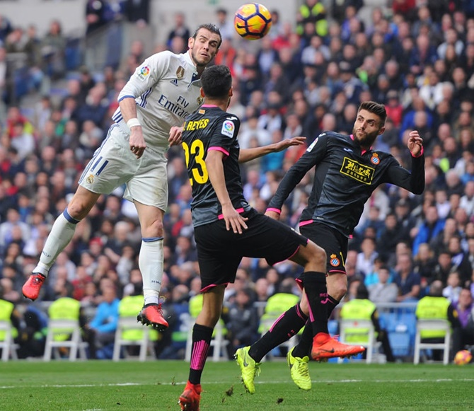 Rediff Sports - Cricket, Indian hockey, Tennis, Football, Chess, Golf - La Liga: Bale scores as Real tighten grip; Gameiro hits five-minute hat-trick