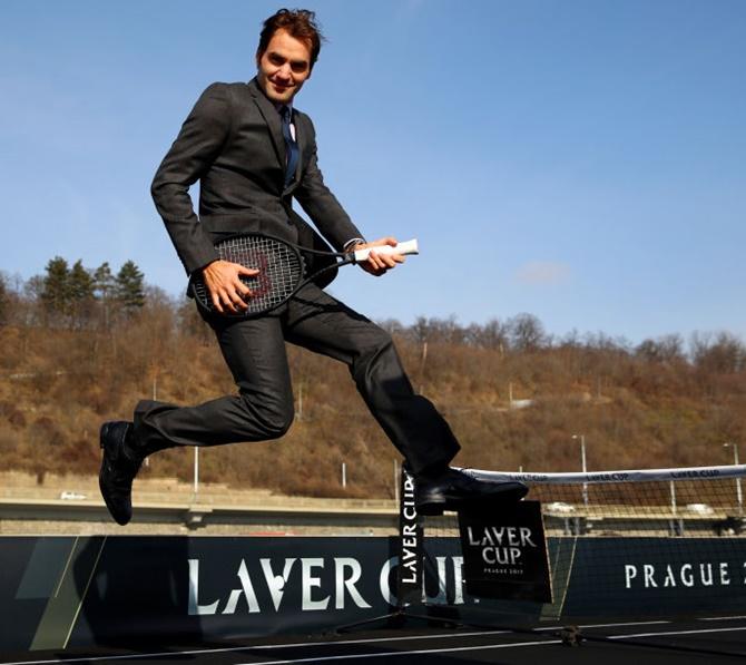 Rediff Sports - Cricket, Indian hockey, Tennis, Football, Chess, Golf - Roger Federer's fantastic photo shoot