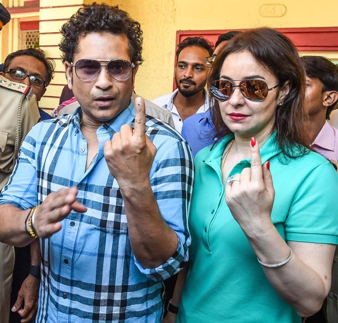 Sachin Tendulkar has voted, have you?
