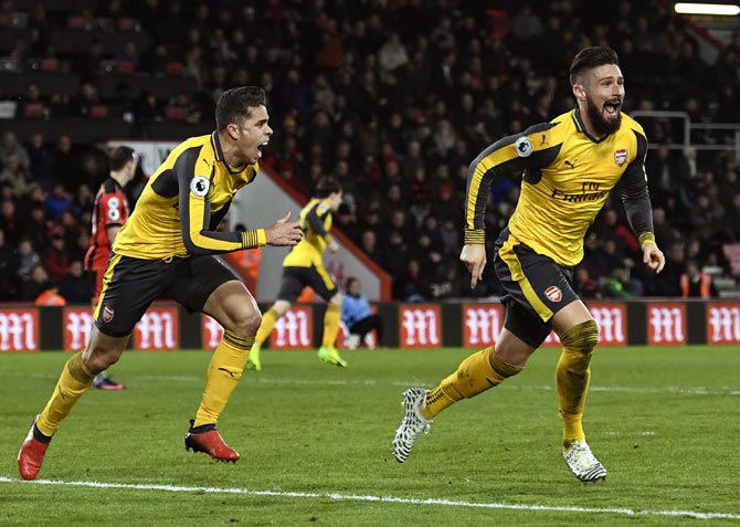 PHOTOS: Arsenal's stunning comeback to snatch draw at Bournemouth