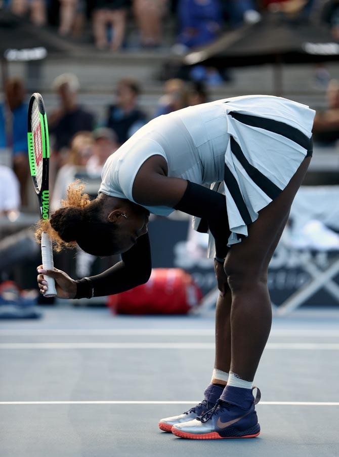 Rediff Sports - Cricket, Indian hockey, Tennis, Football, Chess, Golf - Erratic Serena loses to 72nd ranked Brengle in Auckland