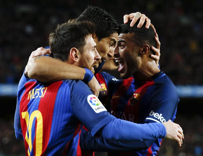 PHOTOS: Messi fires Barca to victory, Southampton stun Liverpool