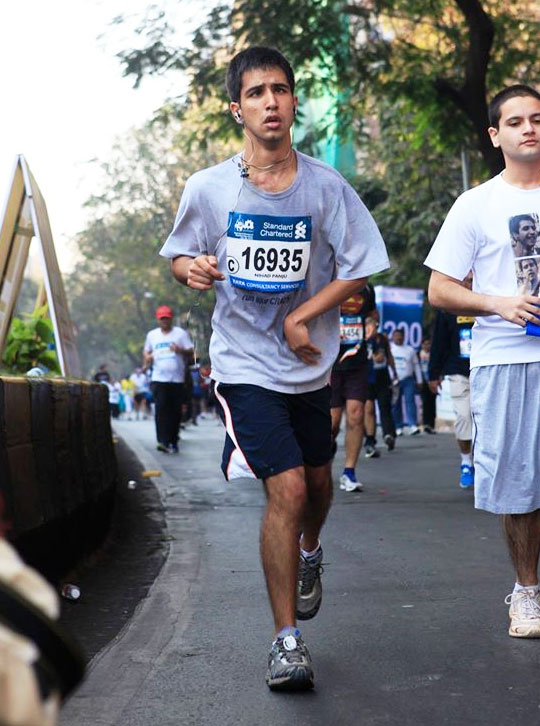 Nihad Panju at the 2016 Mumbai Marathon