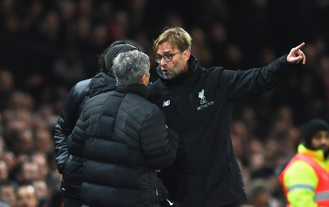 Mourinho-Klopp touchline confrontation adds to EPL publicity