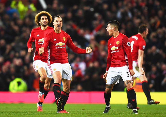 EPL: Exceptional Ibra to United's rescue again in Liverpool draw