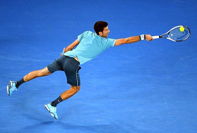 Rediff Sports - Cricket, Indian hockey, Tennis, Football, Chess, Golf - PHOTOS: Djokovic fends off Nadal-slayer Verdasco