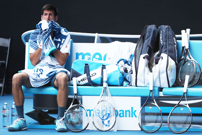 Rediff Sports - Cricket, Indian hockey, Tennis, Football, Chess, Golf - Djokovic 'disappointed' after being done in by Istomin high