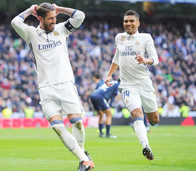 Rediff Sports - Cricket, Indian hockey, Tennis, Football, Chess, Golf - La Liga: Resurgent Ramos sinks Malaga as Real increase lead at top