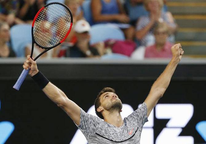 Rediff Sports - Cricket, Indian hockey, Tennis, Football, Chess, Golf - Aus Open PIX: Nadal survives Monfils fightback, Konta to meet Serena