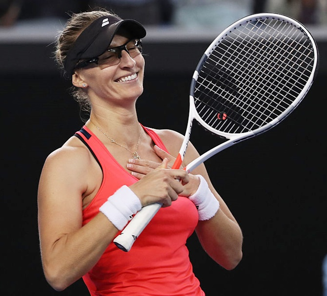 Rediff Sports - Cricket, Indian hockey, Tennis, Football, Chess, Golf - 'Tough little cookie' Lucic-Baroni ends 18-year wait