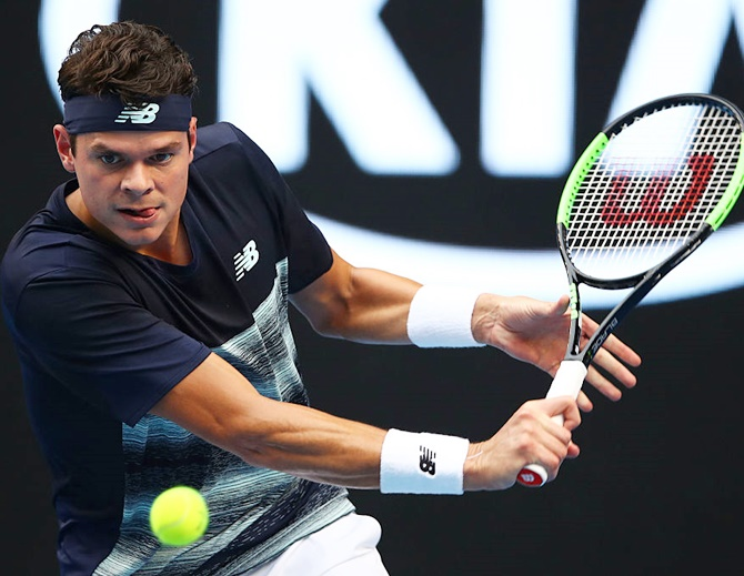 Rediff Sports - Cricket, Indian hockey, Tennis, Football, Chess, Golf - Aus Open: Top surviving seed Raonic storms into last eight
