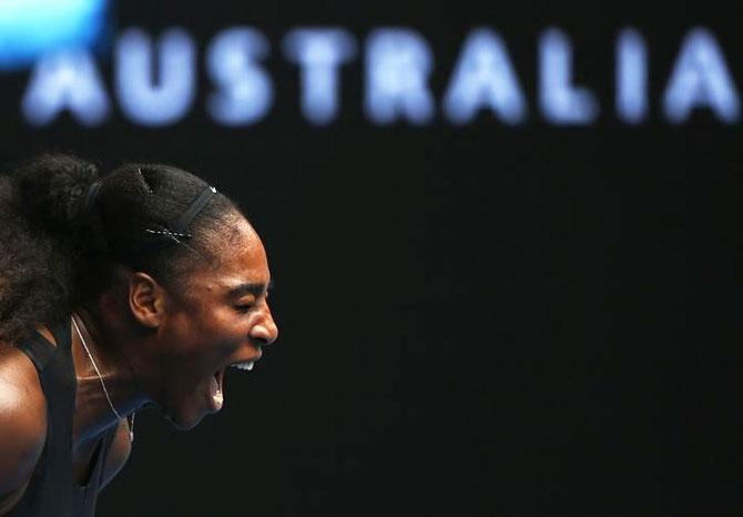 Rediff Sports - Cricket, Indian hockey, Tennis, Football, Chess, Golf - Serena turns back the clock while Konta awaits