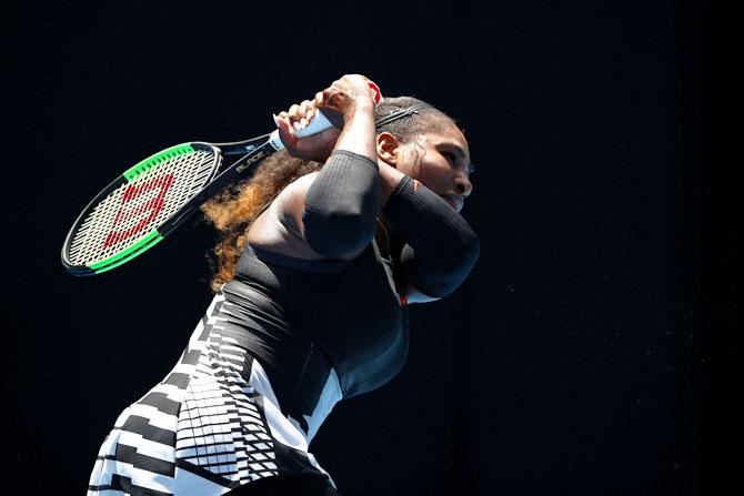 Rediff Sports - Cricket, Indian hockey, Tennis, Football, Chess, Golf - Aus Open: How Serena ground down dogged Strycova