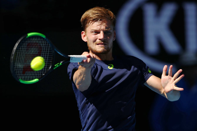 David Goffin was affected by an injury in his left knee during the US Open