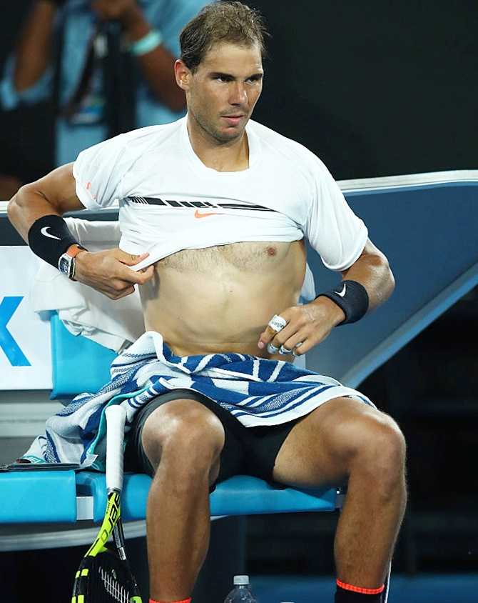Rediff Sports - Cricket, Indian hockey, Tennis, Football, Chess, Golf - Nadal advised rest, to miss Rotterdam Open