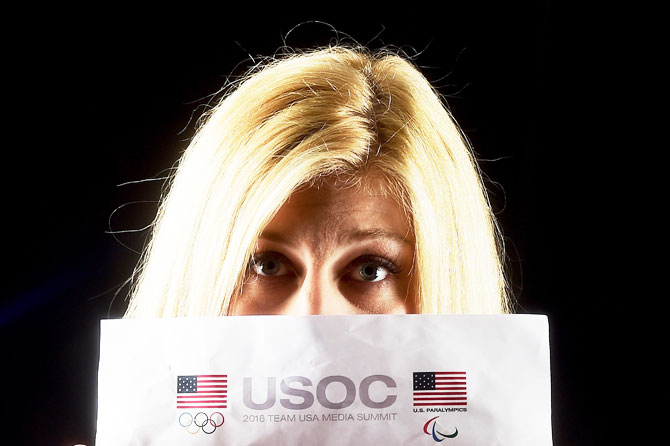 Judoka Kayla Harrison poses for a portrait at the 2016 Team USA Media Summit at The Beverly Hilton Hotel