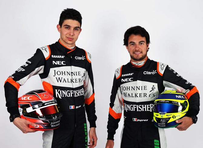 Rediff Sports - Cricket, Indian hockey, Tennis, Football, Chess, Golf - F1: Force India pair clear the air after Spa collision