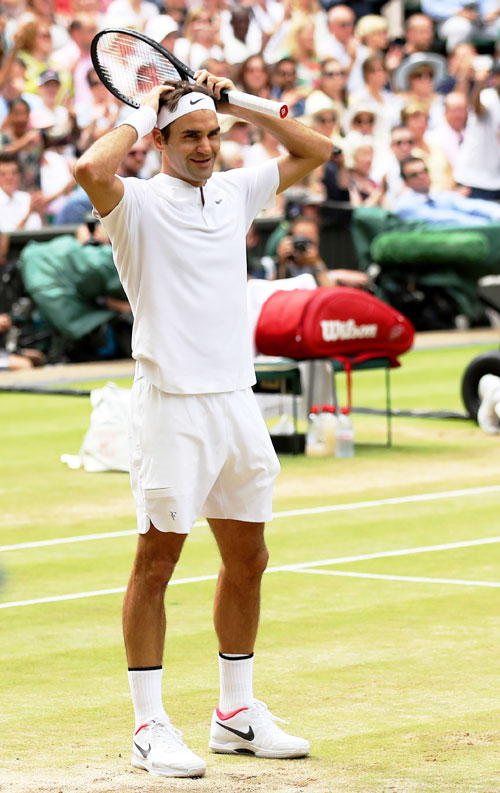 Roger Federer says winning the Wimbledon title on Sunday, without dropping a set, was unbelievable