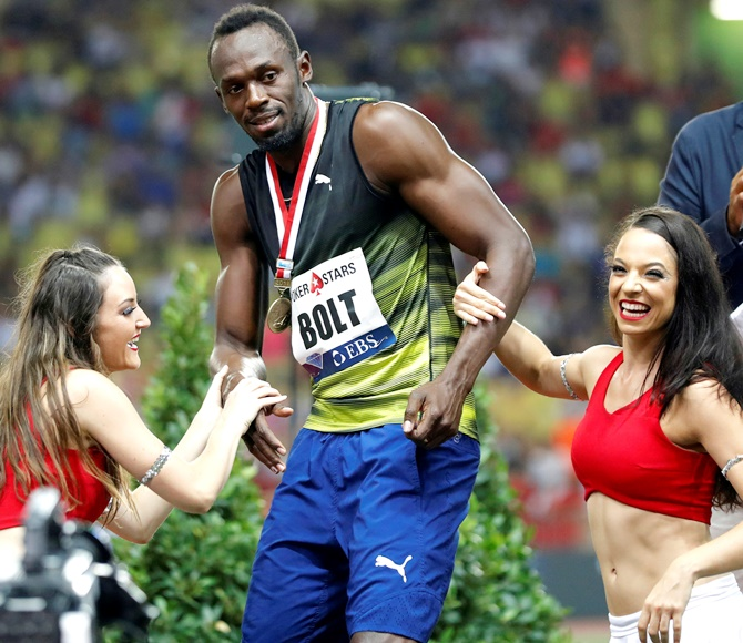 Rediff Sports - Cricket, Indian hockey, Tennis, Football, Chess, Golf - Bolt breaks 10 seconds for first time this season