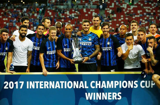 Rediff Sports - Cricket, Indian hockey, Tennis, Football, Chess, Golf - Football Briefs: Inter beat Chelsea to win International Champions Cup