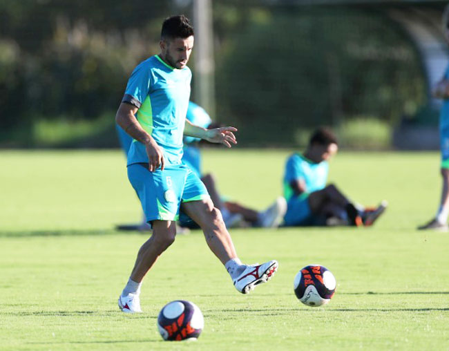 Alan Ruschel during a training session